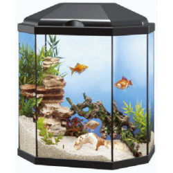 Acuario Aqua 30 LED (Ciano) Color negro